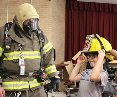 Elementary School Students Take Part in Fire Safety Day