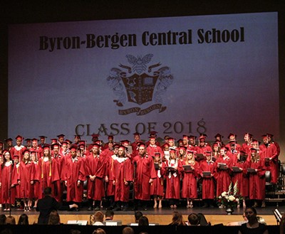 Byron-Bergen Class of 2018 Achieves 100% Graduation Rate