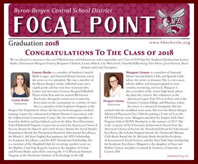 Graduation 2018 Focal Point