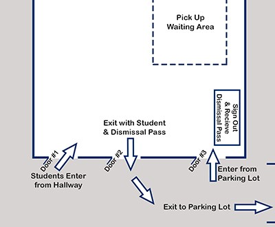New Dismissal Procedures at Byron-Bergen Elementary School