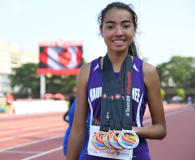 BB sophomore wins four medals at NAIG