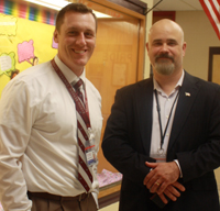 Principal Meister with Superintendent Edwards.