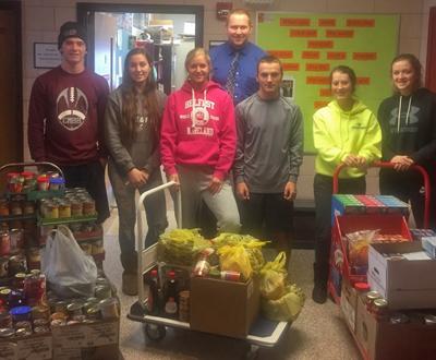 Varsity Club's Holiday Food Drive sets new record
