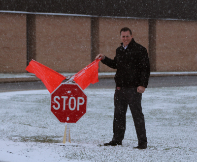 New stop sign at Elementary School