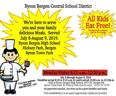 Summer Food Service begins July 9
