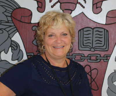 New Athletics and Counseling Secretary, Wanda Swanson