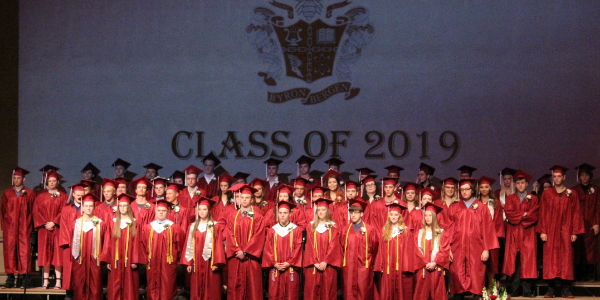 Class of 2019 on stage