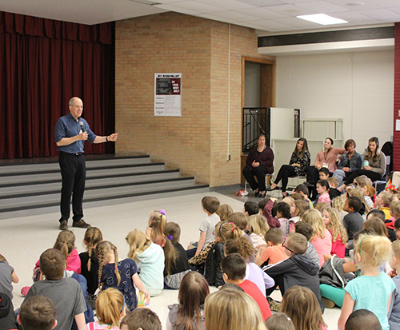 New York Times Best-Selling Author visits Elementary School