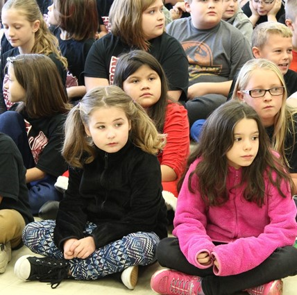 ES students at assembly.
