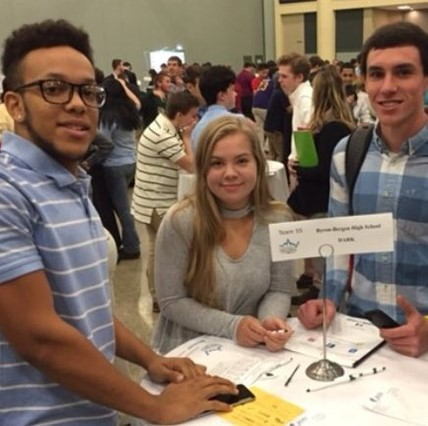 HS students at the Stock Market Challenge.
