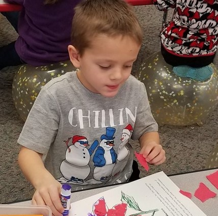 Kindergarten student learning about the holidays in Mexico.