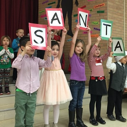 Holiday performance at the Elementary School.