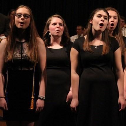 Members of the Byron-Bergen HS singing group.