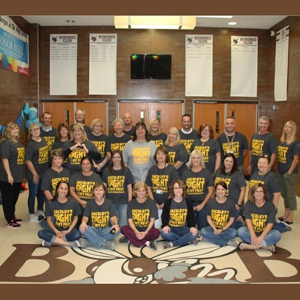 BB staff show support for student