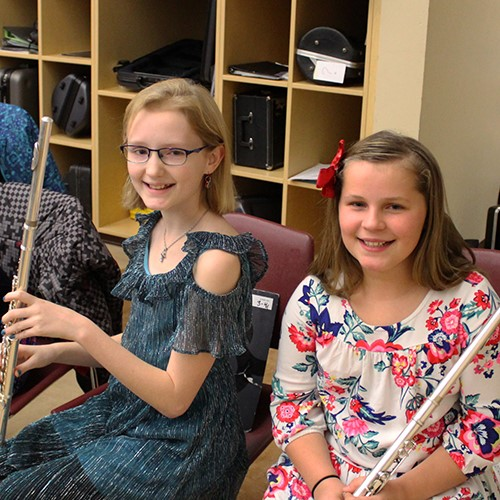students with flutes