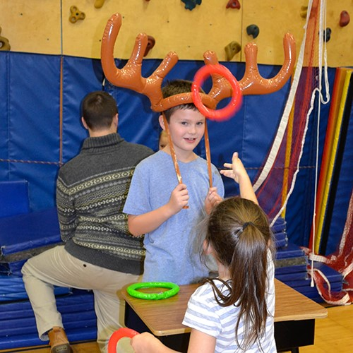 antler ring toss game