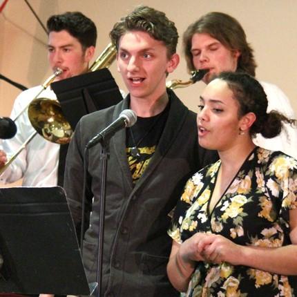 Performers at Buzzin Bistro.