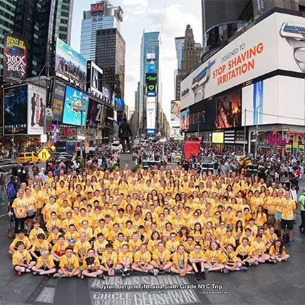 5th grade at Times Square