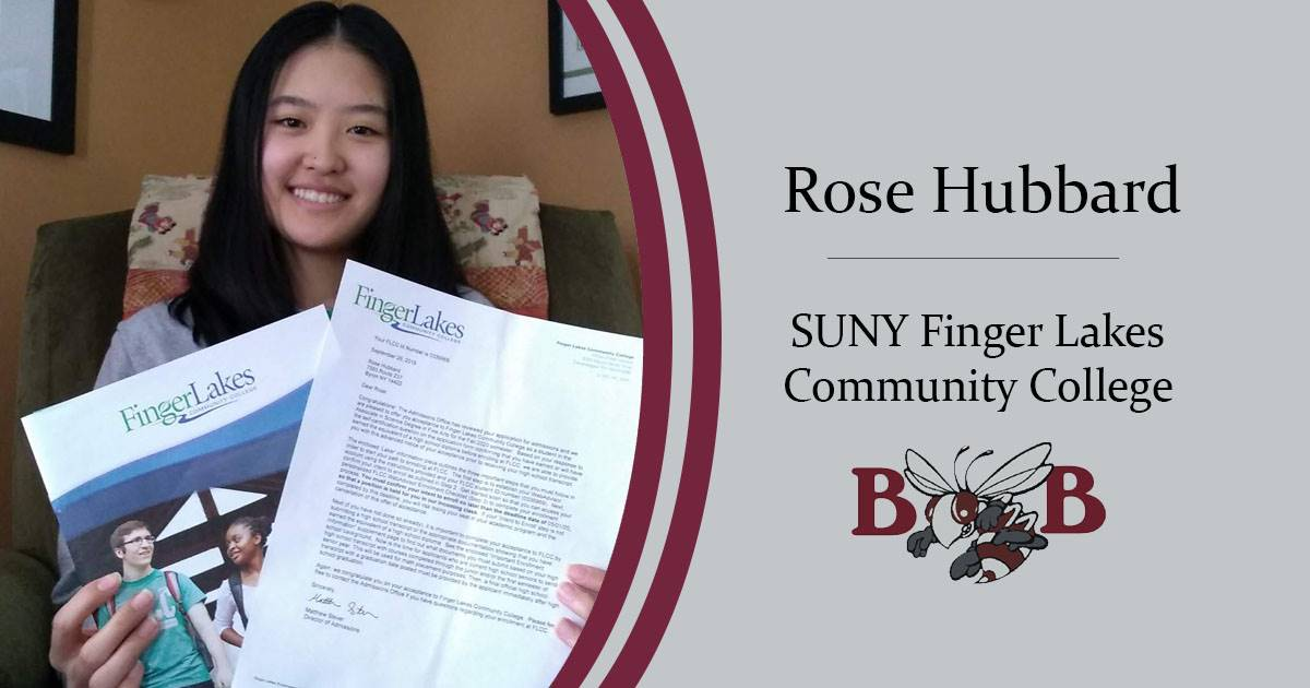 Hubbard Rose Senior decision day graphic