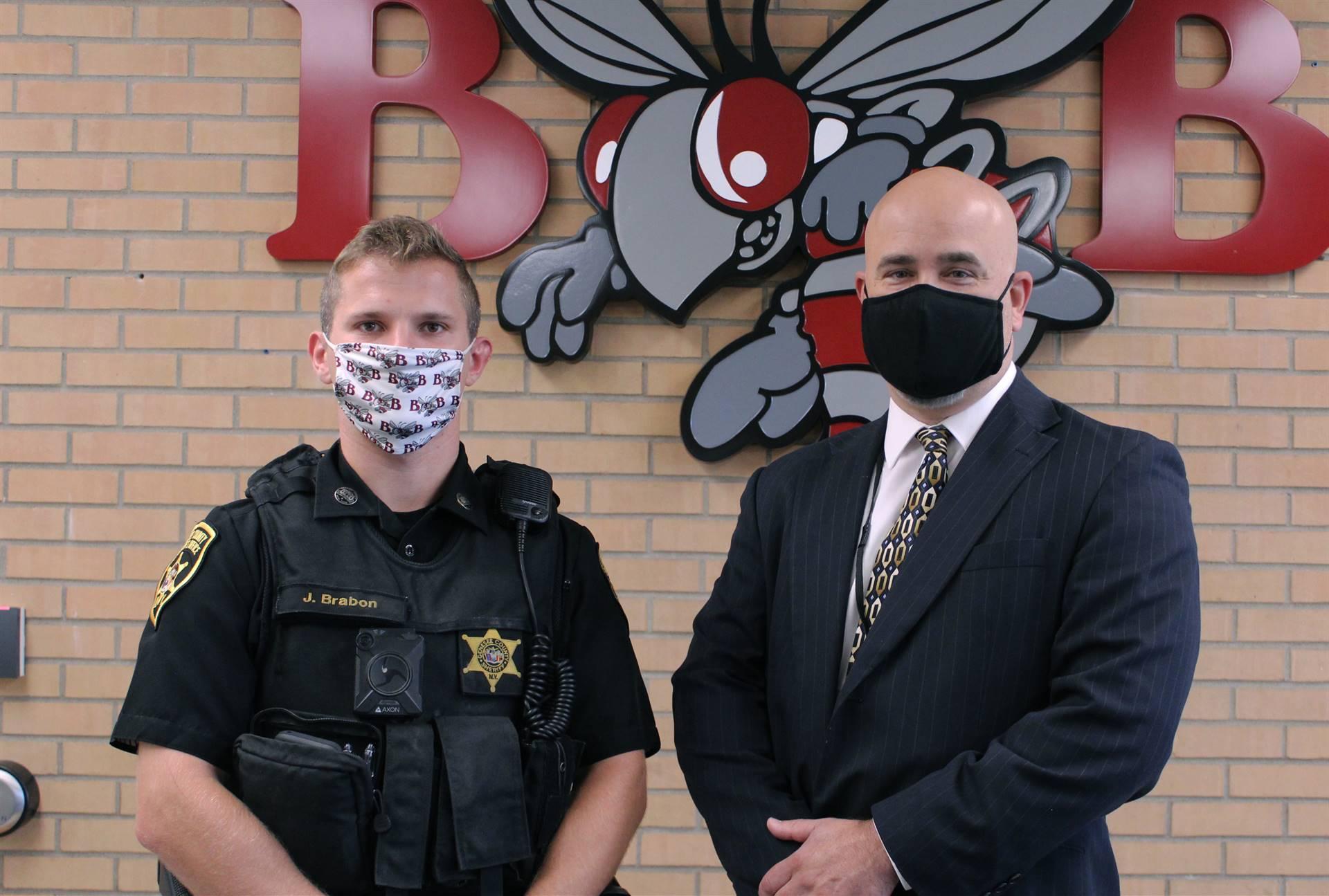 Deputy Brabon with Superintendent Edwards
