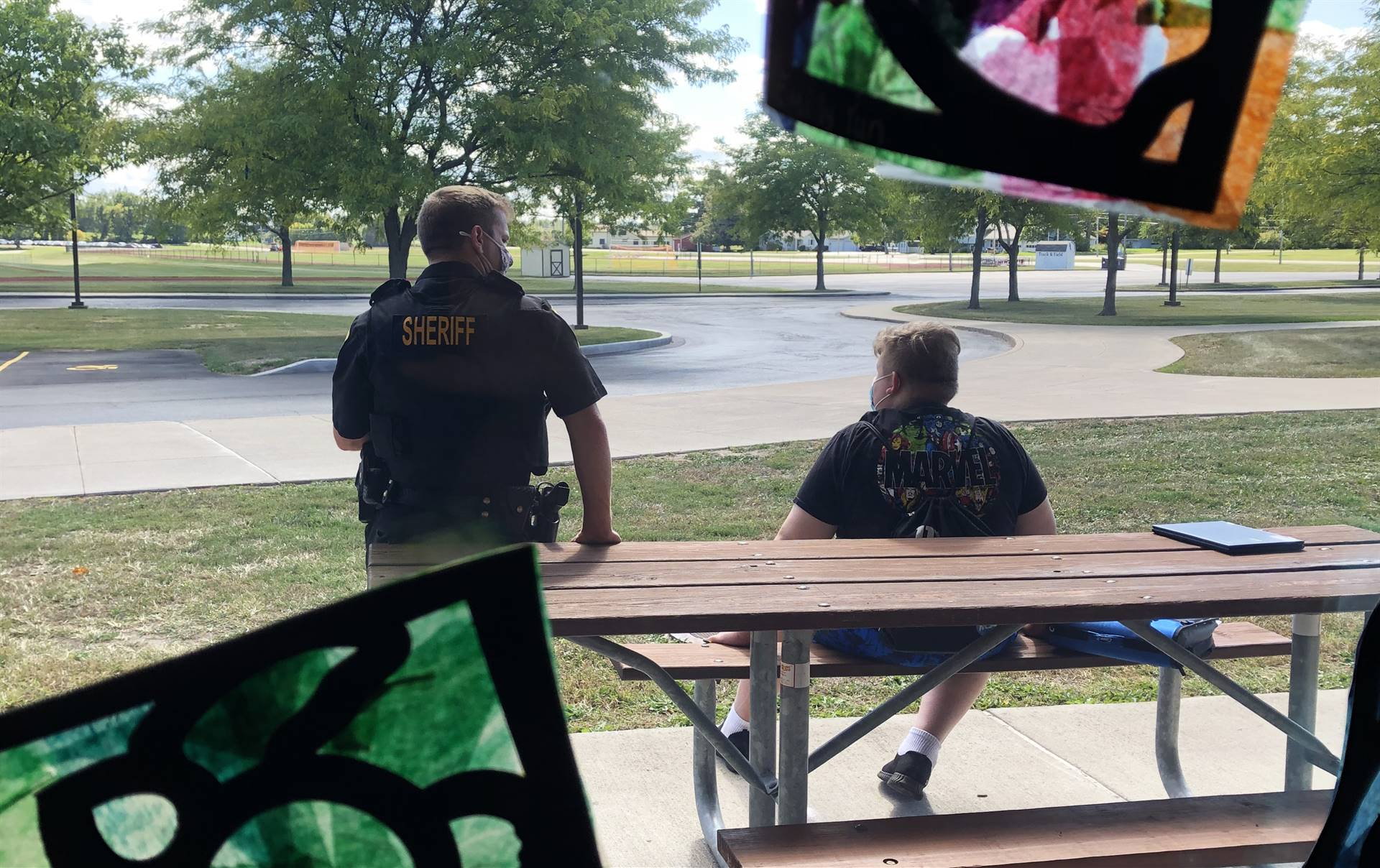 Deputy Brabon with student